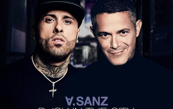 Así suenan la fusión de Alejandro Sanz con el reguetonero Nicky Jam