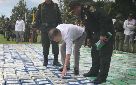 Colombia registra mayor decomiso de cocaína de su historia