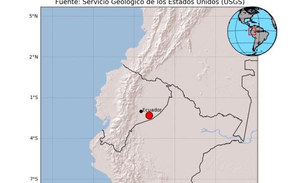 Dos sismos de magnitudes 7,5 y 6 sacudieron la Amazonía de Ecuador