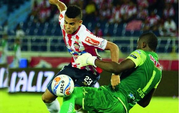 Con goles de Jarlan Barrera, Teo Gutiérrez (2 ) y Marlon Piedrahita, Junior frenó al Tolima en un juego vibrante. FOTO colprensa