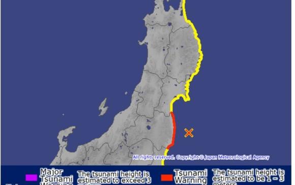 Se registra sismo de 7.3 grados en Japón; emiten alerta de tsunami