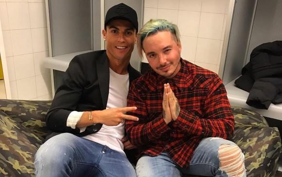 Crisitiano Ronaldo visita a J. Balvin durante su concierto en Madrid