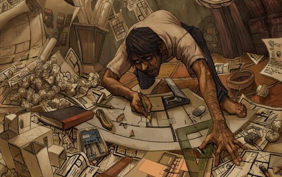 Antonio es el protagonista de Imágenes Premonitorias el volumen uno de la serie. Esta ilustración es de Re'em Camargo.