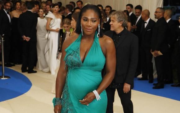 La tenista Serena Williams desfiló su embarazo durante la gala del MET. Foto: Reuters.