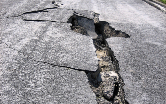 Cada hora hay decenas de temblores en el mundo. Imagen en Nueva Zelanda. Foto M. Luff