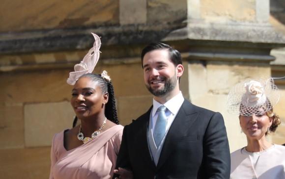 La tenista Serena Williams y su esposo y entrenador personal Alexis Ohanian. FOTO EFE