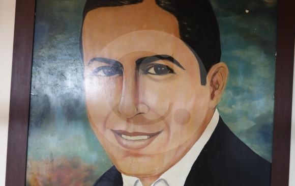 Cuadro de Gardel, en el Patio del Tango.
