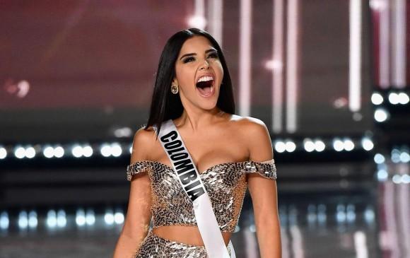 La alegría de Laura González fue notoria en la pasarela. FOTO AFP