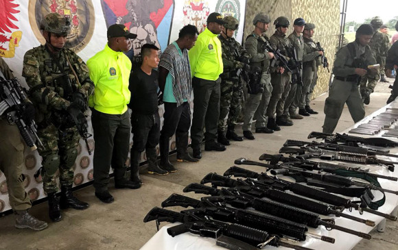 En el último operativo contra el frente Oliver Sinisterra liderado por alias Guacho, murieron seis de sus integrantes, cinco fueron capturados y se incautó material de guerra. FOTO Cortesía Policía