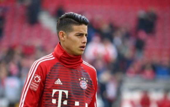 ¡Grata noticia! James fue convocado por Bayern para duelo contra Besiktas