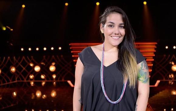 Daniela Posada fue la única paisa en esta competencia de canto. FOTO Cortesía Talento FOX