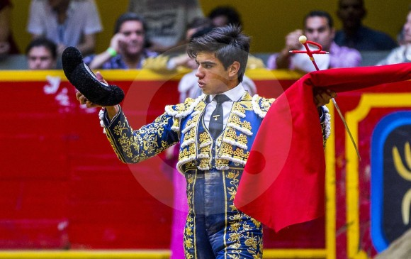 El joven torero venezolano Jesús Enrique Colombo, triunfador oficial de la 27° Feria Taurina de La Macarena. FOTO jaime pérez