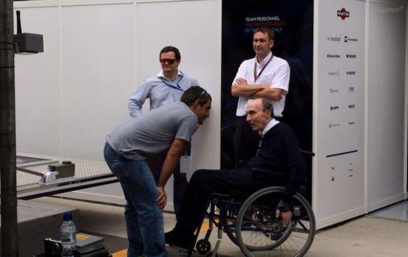 Juan Pablo Montoya y Frank Williams. FOTO TOMADA DE TWITTER @WilliamsRacing