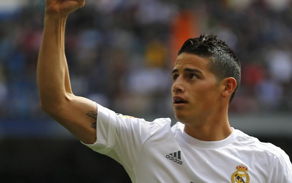 James Rodríguez, delantero del Real Madrid. FOTO AP