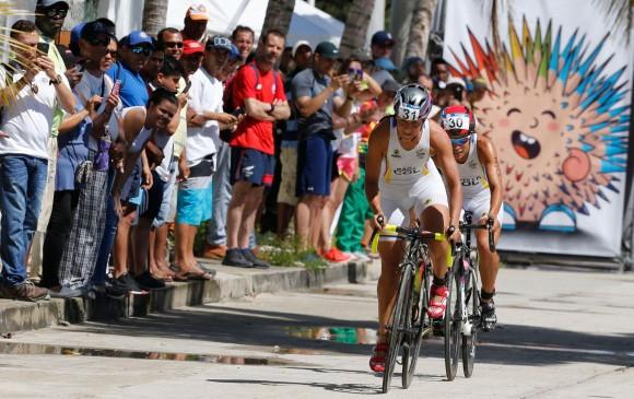 En acción la colombiana Lina Raga, durante los Centroamericanos disputados en Barranquilla, el año pasado. FOTO COLPRENSA