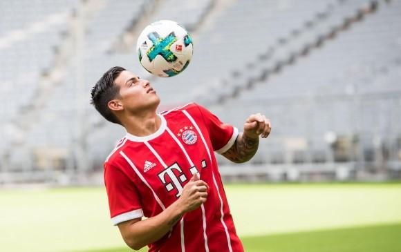 James Rodríguez llegó cedido por dos temporadas desde Real Madrid. Bayern pagó cinco millones de euros. FOTO afp