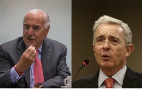 Los expresidentes Andrés Pastrana y Álvaro Uribe. FOTO: Colprensa