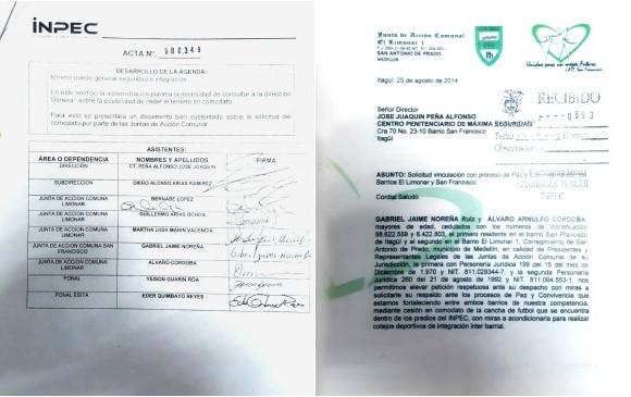 3. Los dcumentos firmados y sellados por las autoridades tras las reuniones.