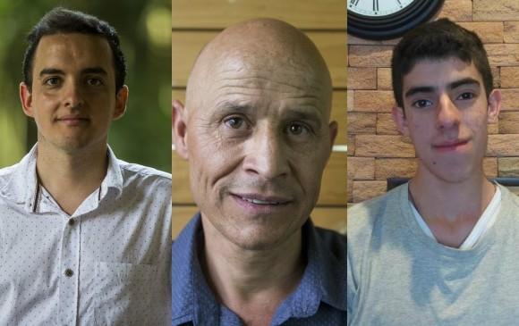 John Alexander Echeverri (docente) - Adolfo García (ingeniero ambiental) - John Fredy Sepúlveda (estudiante de Ingeniería Mecánica)