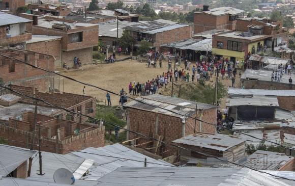 El hecho ocurrió en el barrio de invasión en límites entre Bello y Medellín. FOTO ARCHIVO (Robinson Sáenz Vargas)