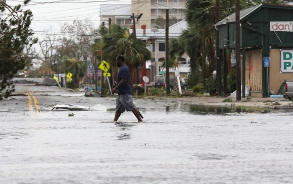 Aumentan las afectaciones en el mundo por desastres naturales. El cambio climático tiene que ver mucho. Foto en Panamá City tras el paso del huracán Michael. Foto Efe