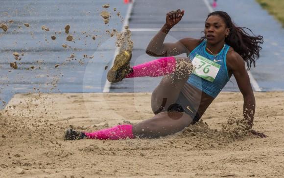 Caterine Ibargüen ganó por tres centímetros en Mónaco