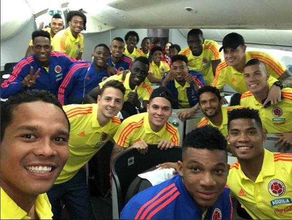 Con la ilusión de todos los colombianos, la selección partió a Europa