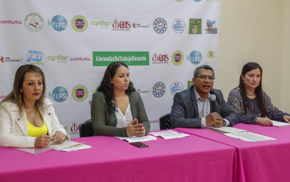 En la presentación del informe anual de Trabajo Decente, la ENS planteó opciones para una reforma pensional. Foto: Robinson Sáenz.