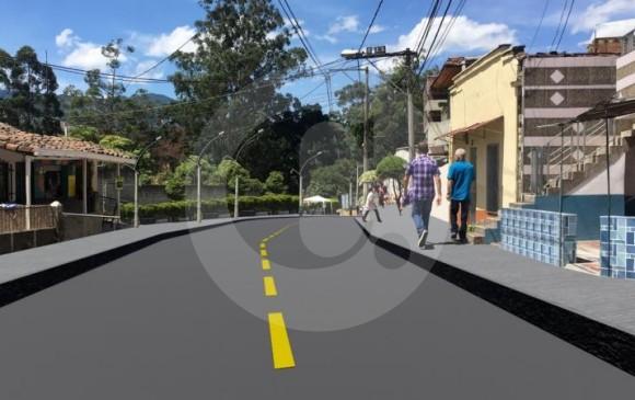 Así se proyecta la ampliación de la calle 48 en Itagüí. FOTO ALCALDÍA DE ITAGÜÍ