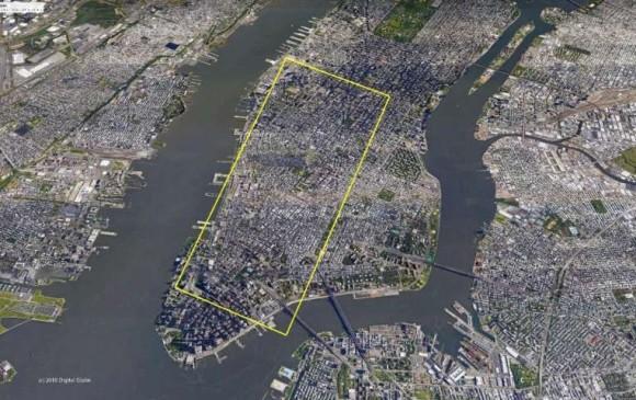 El iceberg tiene el tamaño como de Manhattan a Midtown en Nueva York. Foto Denise Holland