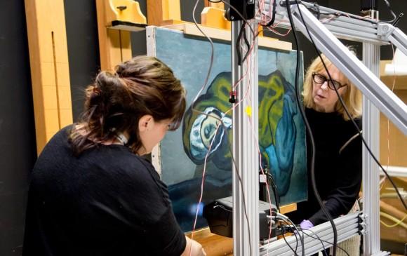 Descubren una obra oculta debajo de un cuadro de Picasso