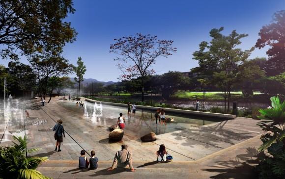 Plaza de agua de la etapa 1B, nueva controversia en Parques del Río