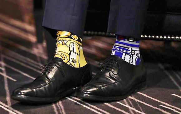 Detalle de las medias de Star Wars del primer ministro Trudeau. FOTO AP
