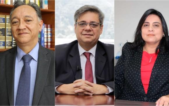 El Congreso deberá votar para elegir un nuevo magistrado de la Corte Constitucional entre los ternados José María del Castillo, Fernando Grillo y Paola Meneses. FOTOS Cortesía