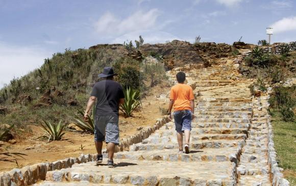 El Jardín Circunvalar, en el Cerro Pan de Azúcar, plan para caminar y ver la ciudad desde las montañas. FOTO donaldo zuluaga
