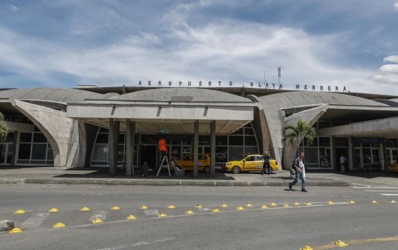 El aeropuerto Olaya Herrera se encuentra cerrado por condiciones climáticas. Foto: Robinson Sáenz Vargas