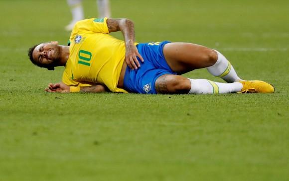 Neymar fue uno de los jugadores más criticados por sus simulaciones de falta. FOTO REUTERS