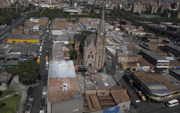 Barrio Triste, en el centro de Medellín. FOTO DONALDO ZULUAGA