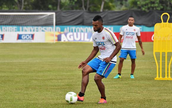 Borja fue uno de los primeros jugadores en llegar a la concentración. FOTO Cortesía Federación Colombiana de Fútbol