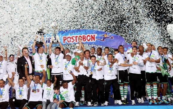 En 2011 un gol agónico de Equidad casi empaña la fiesta verde. FOTO ARCHIVO (DONALDO ZULUAGA)