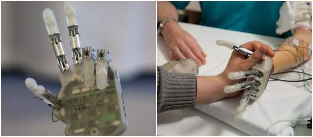Crean mano artificial con sentido del tacto