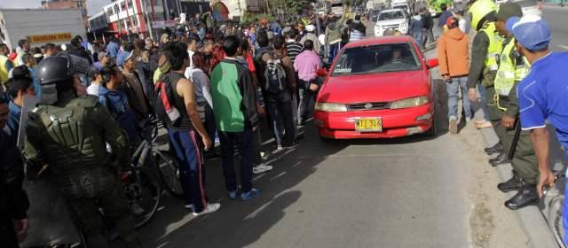 Marchas en apoyo al paro agrario paralizan gran parte de for Cocinas integrales usadas bogota
