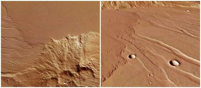 Difunden imágenes de extintos ríos de lava en Marte