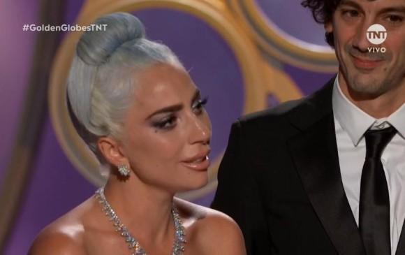 Lady Gaga visiblemente emocionada recibió el premio. FOTO Cortesía TNT