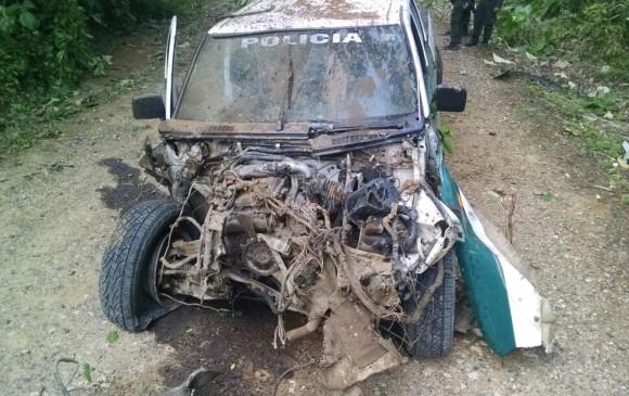 El 13 de mayo de 2017, una patrulla de la Policía fue atacada con un explosivo instalado en una vía de la zona rural de Arboletes. En el atentado dos policías resultaron heridos. La parte delantera del vehículo quedó totalmente destrozada.