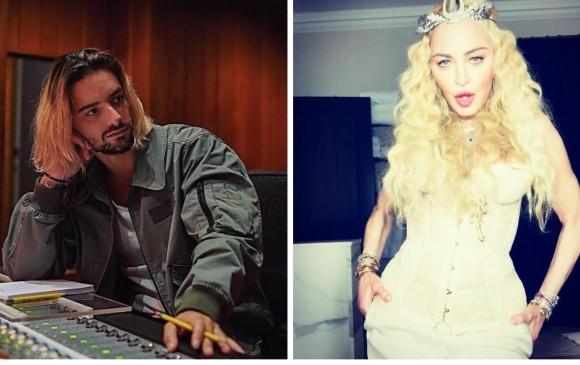 Maluma y Madonna se conocieron este año en los premios MTV. FOTO: @Maluma y @Madonna