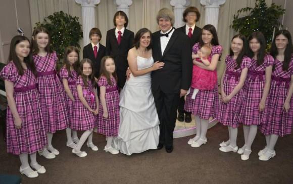 La familia Turpin completa. FOTO: Facebook