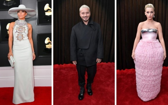 Jennifer López, J Balvin y Katy Perry. FOTOS AFP
