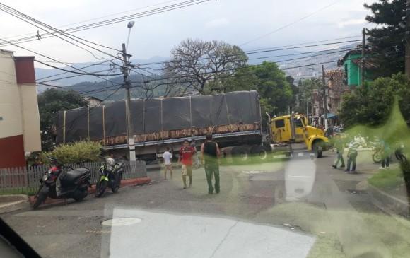 En Campo Valdes se afecta la movilidad por una falla en un camión. FOTO: Cortesía