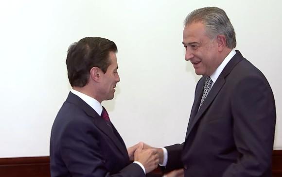 Recibe Peña Nieto a vicepresidente y ministra de Colombia